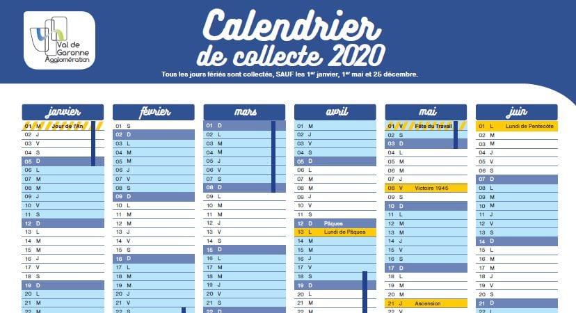 Agglo Agen Calendrier Poubelle 2021 Calendrier 2020 de collecte des déchets   Val de Garonne Agglomération